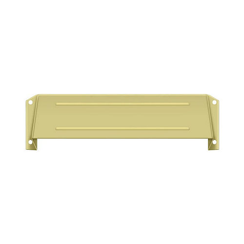 Deltana MSH158U3 Letter Box Hood, Bright Brass Finish