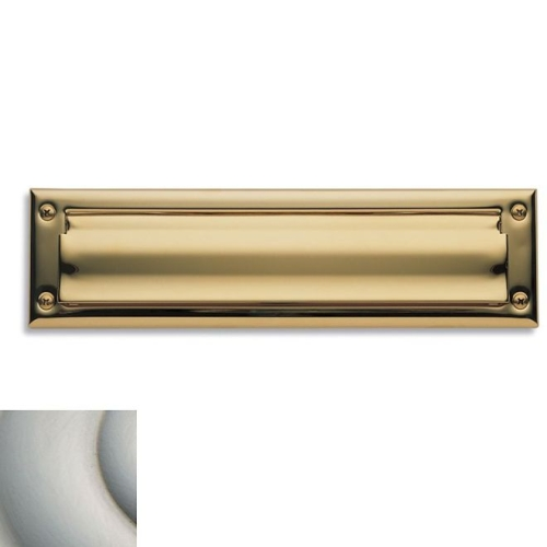 Baldwin 0014056 Letter Box Plate Lifetime Satin Nickel Finish