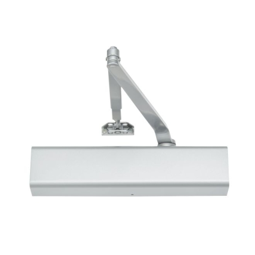 Norton 8501H689 Adjustable Hold Open Surface Mount Door Closer with Full Cover and Sex Nuts Aluminum Finish