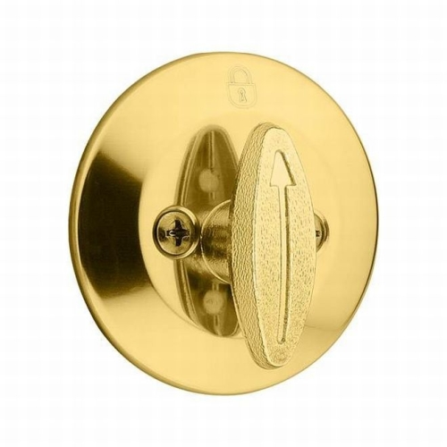 Kwikset CP663-3 Clear Pack One Sided Deadbolt with RCAL Latch and RCS Strike Bright Brass Finish