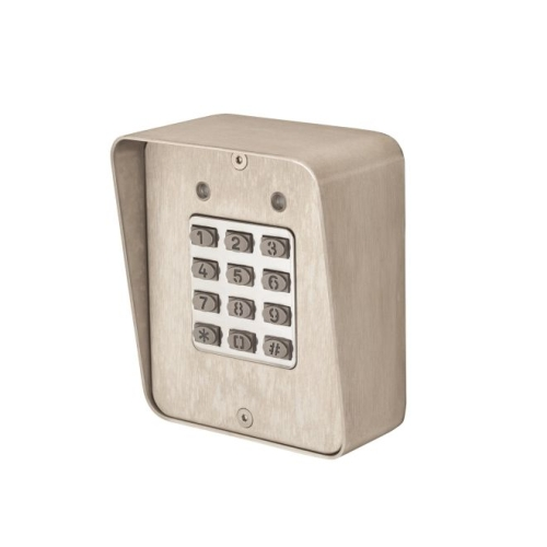 Locknetics DKP165S Digital Keypad; Surface Mount with Case; Up to 480 Users with Timed Anti-Pass Back Satin Stainless Steel Finish