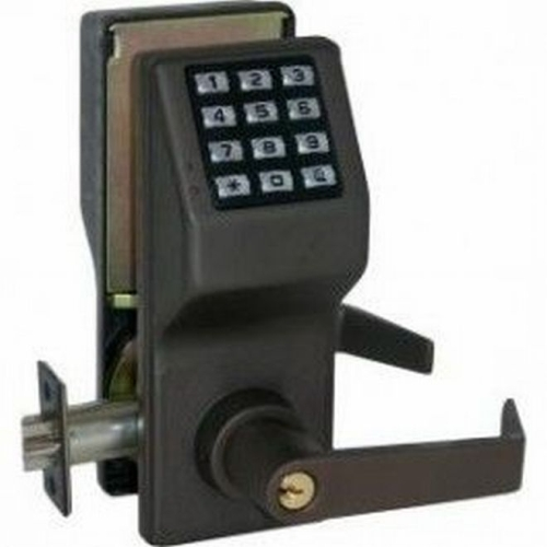 Alarm Lock DL270010B Trilogy Electronic Digital Lever Lock Oil Rubbed Bronze Finish