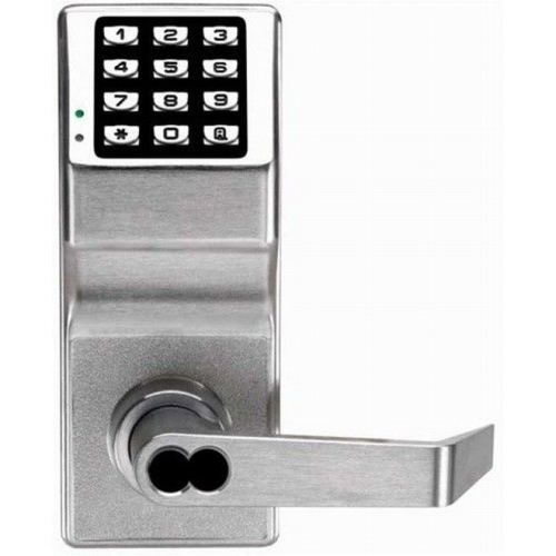Alarm Lock DL2700IC26DY Trilogy Electronic Digital Lever Lock with Interchangeable Core for Yale Satin Chrome Finish