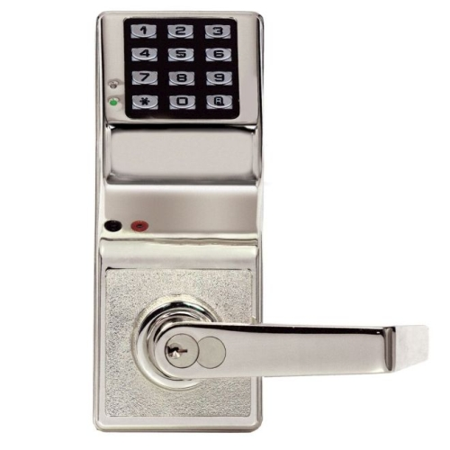 Alarm Lock DL280026D Trilogy Electronic Digital Lever Lock with Enhanced Features Satin Chrome Finish