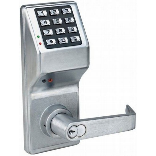 Alarm Lock DL4100IC/26D Digital Lock with Interchangeable Core Satin Chrome Finish