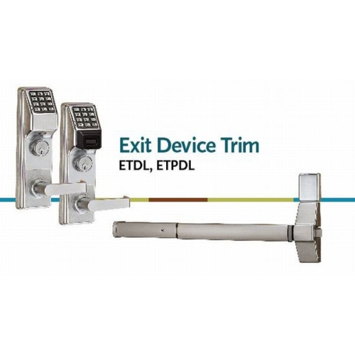 Alarm Lock ETPDLS1G26DV99 Trilogy Exit Trim for VD99 Satin Chrome Finish