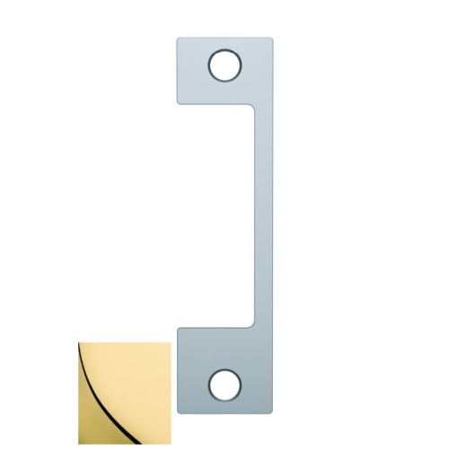 Assa Abloy Electronic Security Hardware - Hes NM605 NM Faceplate for 1006 Strike Bright Brass Finish