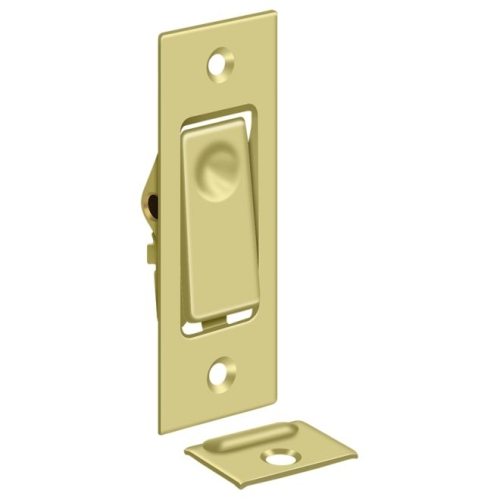 Deltana PDB42U3 Pocket Door Bolt, Jamb bolt, Polished Brass