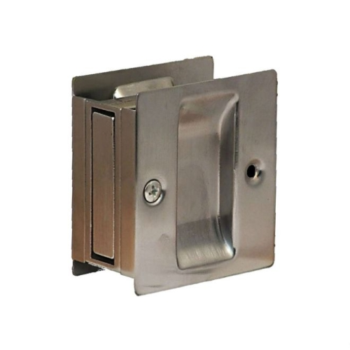 Don-Jo PDL100626 Square Passage Pocket Door Lock Satin Chrome Finish