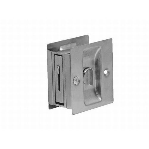 Don-Jo PDL101626 Square Privacy Pocket Door Lock Satin Chrome Finish