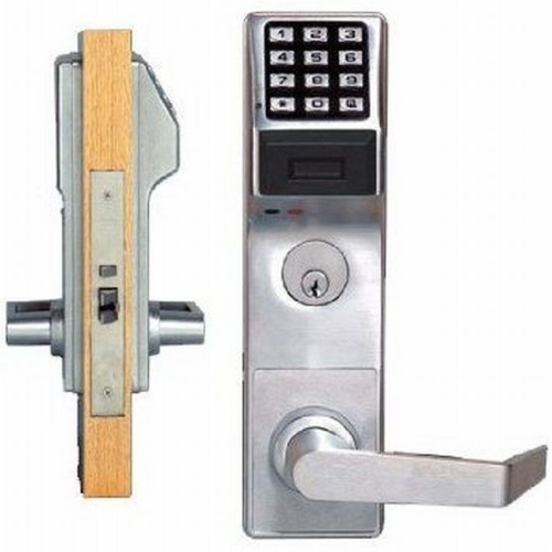 Alarm Lock PDL3500CRR26D Right Hand Proximity Keypad Mortise Lock Satin Chrome Finish