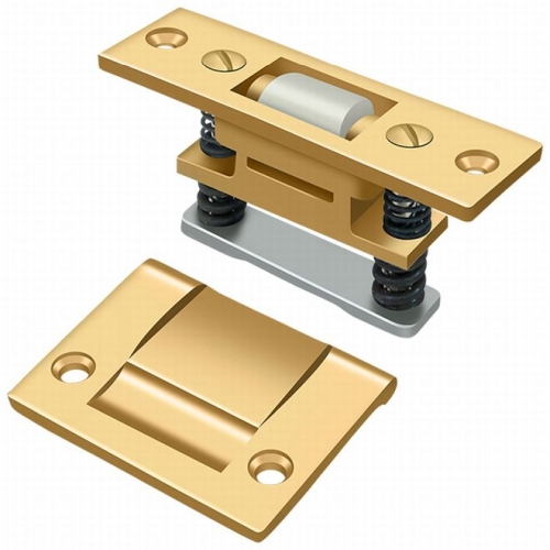 Deltana RCA430CR003 Roller Catch, HD, PVD Polished Brass