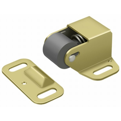 Deltana RCS338U3 Roller Catch Surface Mounted, Polished Brass