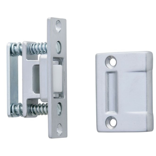 Ives Commercial RL30A26D Large Nylon Roller Latch with ASA Strike Satin Chrome Finish