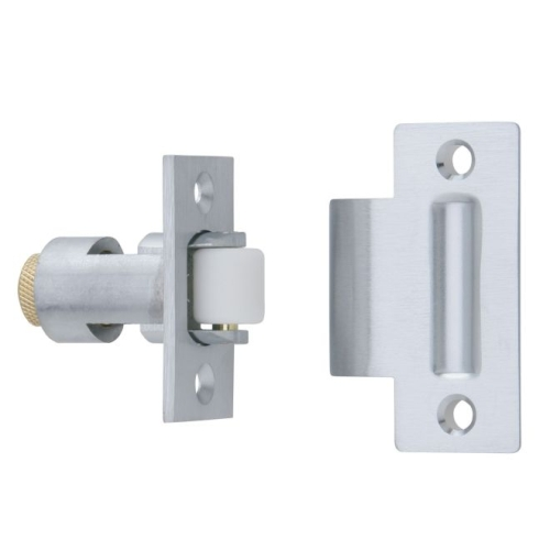 Ives RL32A26D Nylon Roller Latch with ASA Strike Satin Chrome Finish