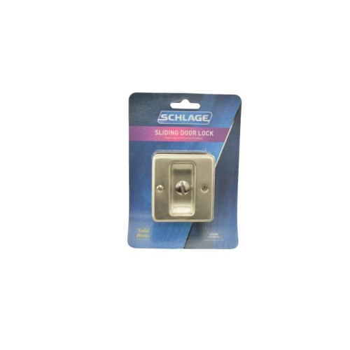 Ives Residential SC991B619 Solid Brass Carded Privacy Sliding Door Lock Satin Nickel Finish
