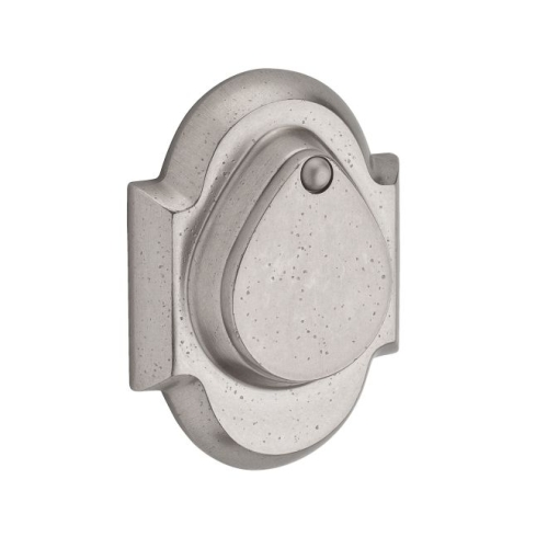 Baldwin SCRAD492 Single Cylinder Rustic Arch Deadbolt with 6AL Latch and Dual Strike White Bronze Finish