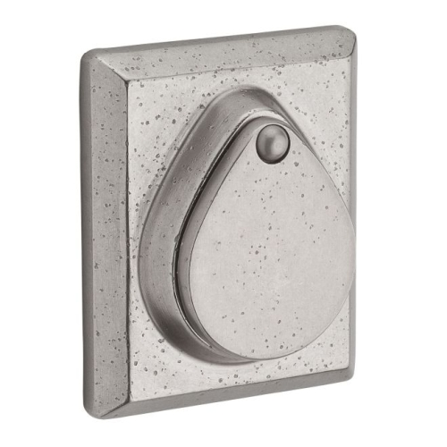 Baldwin SCRSD492 Single Cylinder Rustic Square Deadbolt with 6AL Latch and Dual Strike White Bronze Finish