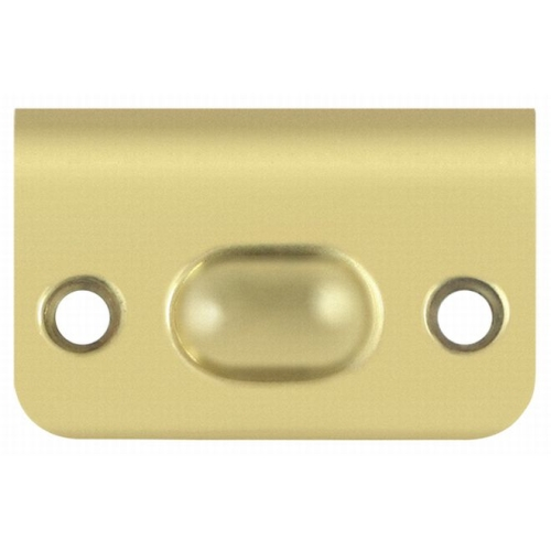 Deltana SPB349U3 Strike Plate for Ball Catch and Roller Catch, Polished Brass