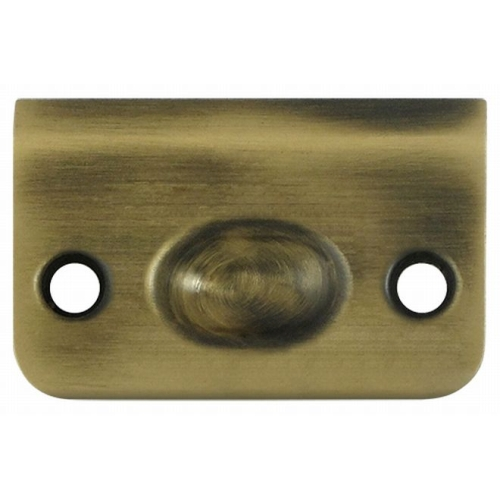 Deltana SPB349U5 Strike Plate for Ball Catch and Roller Catch, Antique Brass Finish