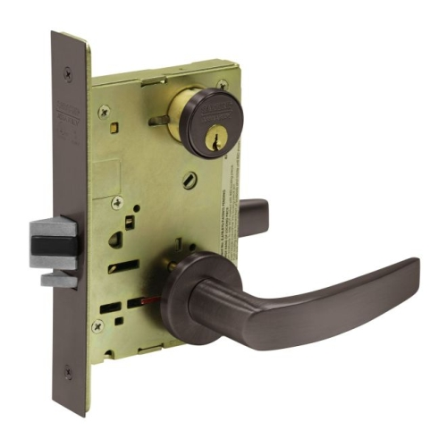 Sargent TR8205LNB10BE Mortise Entry Trim Only with B Lever and LN Rose Dark Bronze Finish