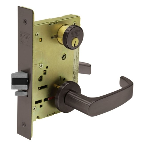 Sargent TR8205LNL10B Mortise Entry Trim Only with L Lever and LN Rose Oil Rubbed Bronze Finish