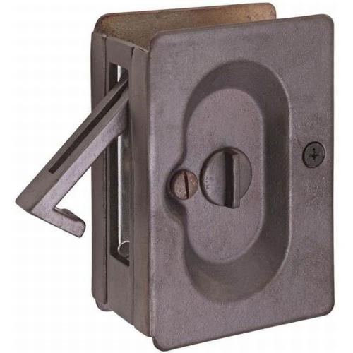 Emtek 2102MB Priv Pocket Door Lock, Medium Bronze Finish