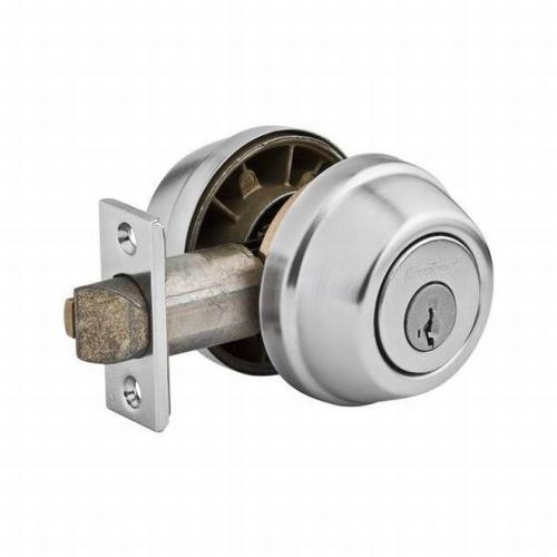 Kwikset 599-26DSV1 Deadbolts - Double Cylinder with New Chassis SmartKey with SCAL Latch and 3028 Strike Satin Chrome Finish