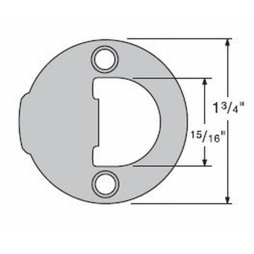 Kwikset 83929-15 Full Round Strike Satin Nickel Finish