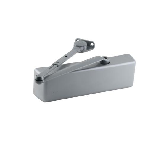 LCN 4040XPH Super Smoothee Heavy Duty Adjustable Surface Mounted Hold Open Door Closer with Thru Bolts 689 Aluminum Finish