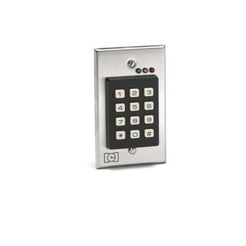IEI Linear 212I Single Gang Flush Mount Indoor Keypad with 120 Users Satin Stainless Steel Finish