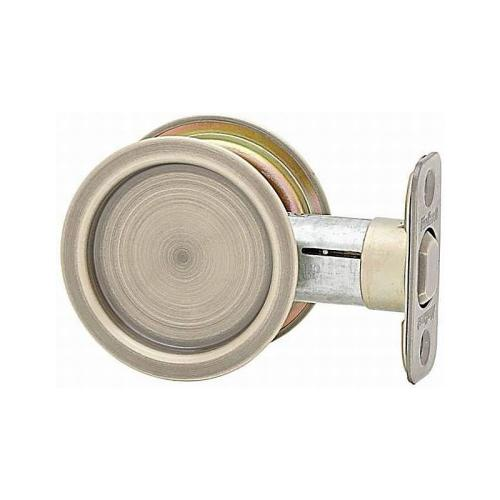 Kwikset 334-5 Round Passage Pocket Door Lock Antique Brass Finish