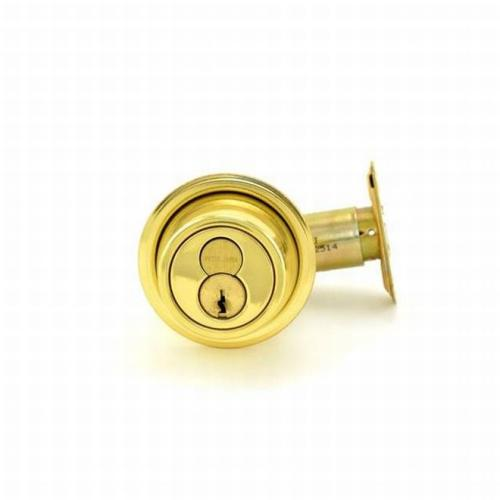 Schlage Commercial B560R605 Grade 2 Single Cylinder Deadbolt with Full Size Interchangeable Core with C Keyway with 12287 Latch and 10094 Strike Bright Brass Finish