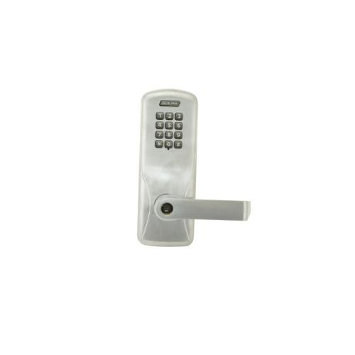 Schlage Electronic CO100MS50KPRHO626 Standalone Keypad Programmable Electronic Lock Mortise Office Keypad Rhodes Lever Satin Chrome Finish