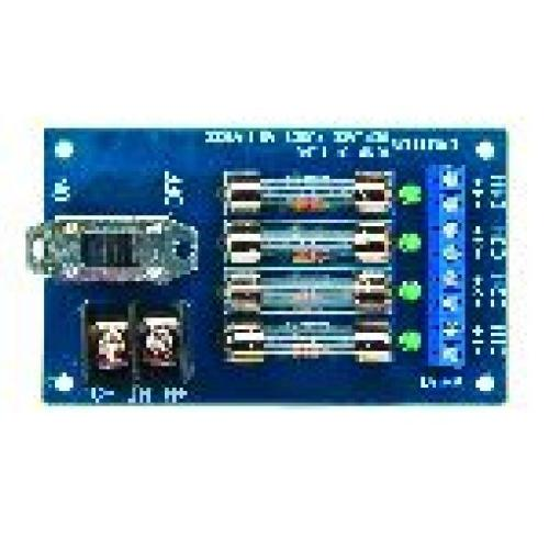 Assa Abloy Electronic Security Hardware - Securitron PDB4F2 Power Distribution Board 4 Fused Output, 2 Amp Each