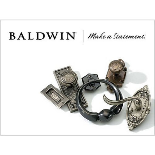 Baldwin 8BR0403006 Square Corner Strike for Knob / Lever Bright Chrome Finish