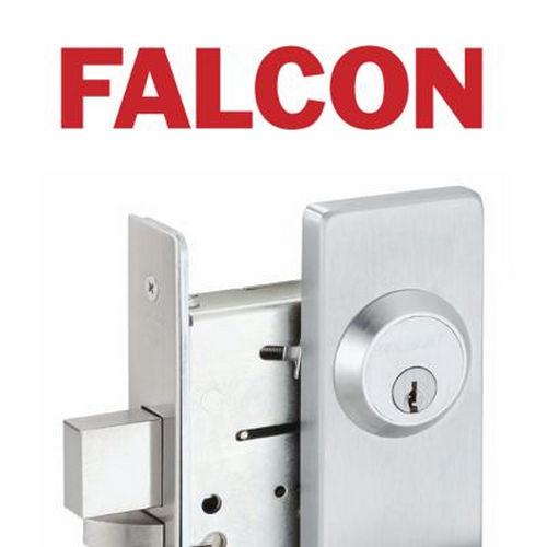 Falcon B511Q625 B Series Office Quantum Lever Lock C Keyway with 57435 Latch 5164 Strike Bright Chrome Finish