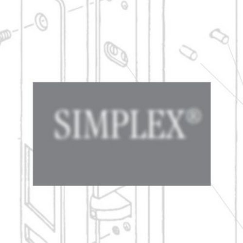 Simplex P2031BLL626 Powerplex Self Powering Pushbutton Cylindrical Lock, 2-3/4