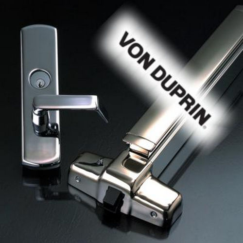 Von Duprin 33026D3 3' Dummy Touch Bar, Satin Chrome Finish