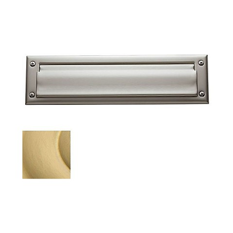 Baldwin 0012040 Letter Box Plate Satin Brass Finish