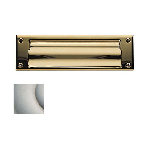 Baldwin 0015056 Letter Box Plate Lifetime Satin Nickel Finish