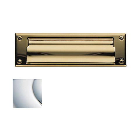 Baldwin 0015260 Letter Box Plate Bright Chrome Finish