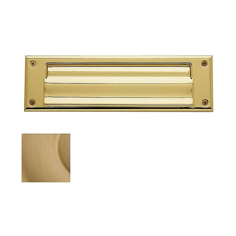 Baldwin 0017033 Letter Box Plate Vintage Brass Finish