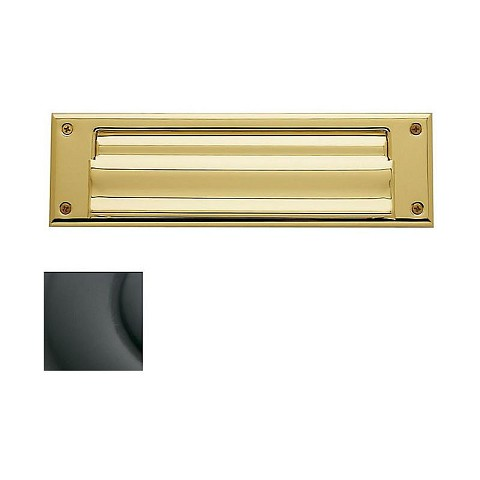 Baldwin 0017102 Letter Box Plate Oil Rubbed Bronze Finish