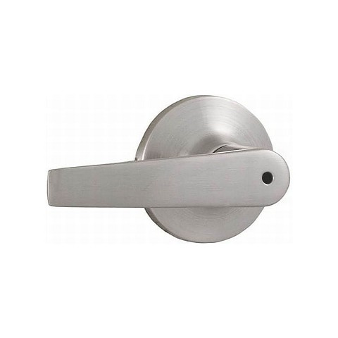 Weslock 00210WNWNFR20 Bristol Privacy Lock with Adjustable Latch and Full Lip Strike Satin Nickel Finish