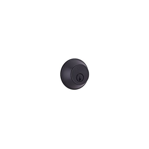 Weslock 00371-2-2SL23 300 Series Single Cylinder Deadbolt with Adjustable Latch and Deadbolt Strikes Black Finish