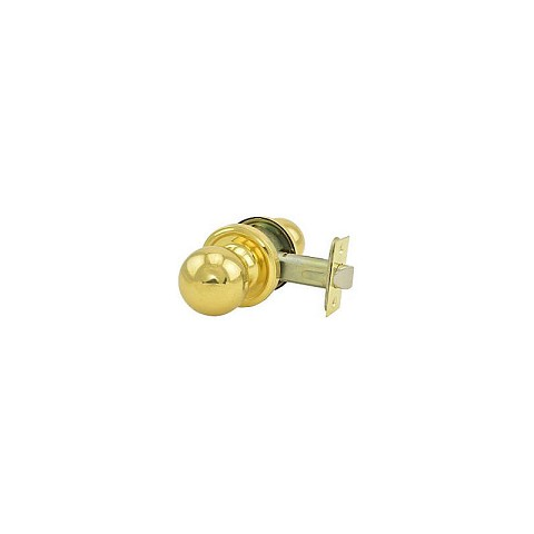 Weslock 00401D3D3SL20 Barrington Passage Lock with Adjustable Latch and Full Lip Strike Bright Brass Finish
