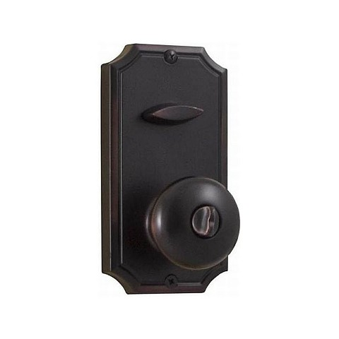 "Weslock 01400-I13820 Impresa Interconnected Handleset Single Cylinder Interior Trim with 2-3/8"" Latch and Round Corner Strikes Oil Rubbed Bronze Finish"