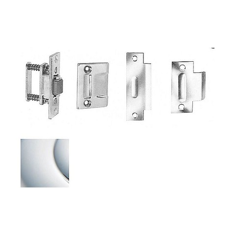 Baldwin 0430260 Roller Latch With Full Lip Strike Bright Chrome Finish