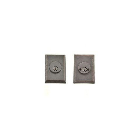 Weslock 07972-1-1SL23 Square Double Cylinder Deadbolt with Adjustable Latch and Deadbolt Strike Oil Rubbed Bronze Finish